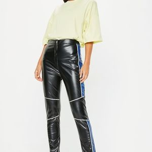 Missguided Motorcross Faux Leather Pants